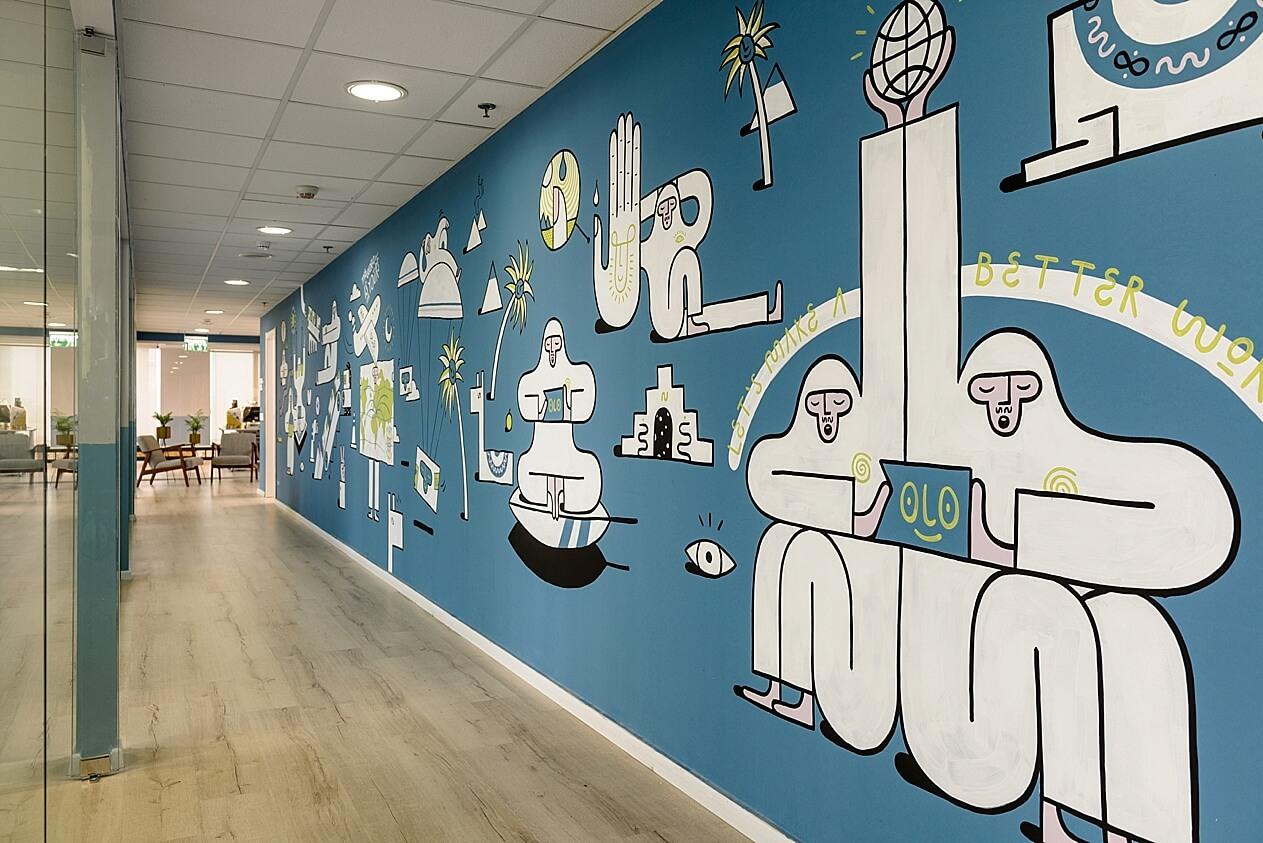 ELNA - אמנות קבועה על הקיר -