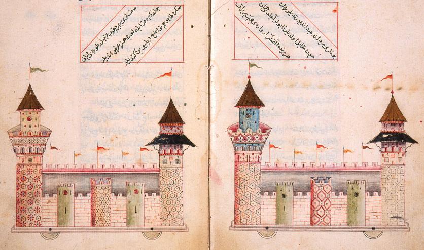 תכנית לטירות על גלגלים, תפאורה לחגיגה בארמון הסולטן