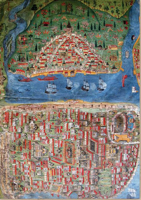 מפת איסטנבול (קונסטנטינופול)