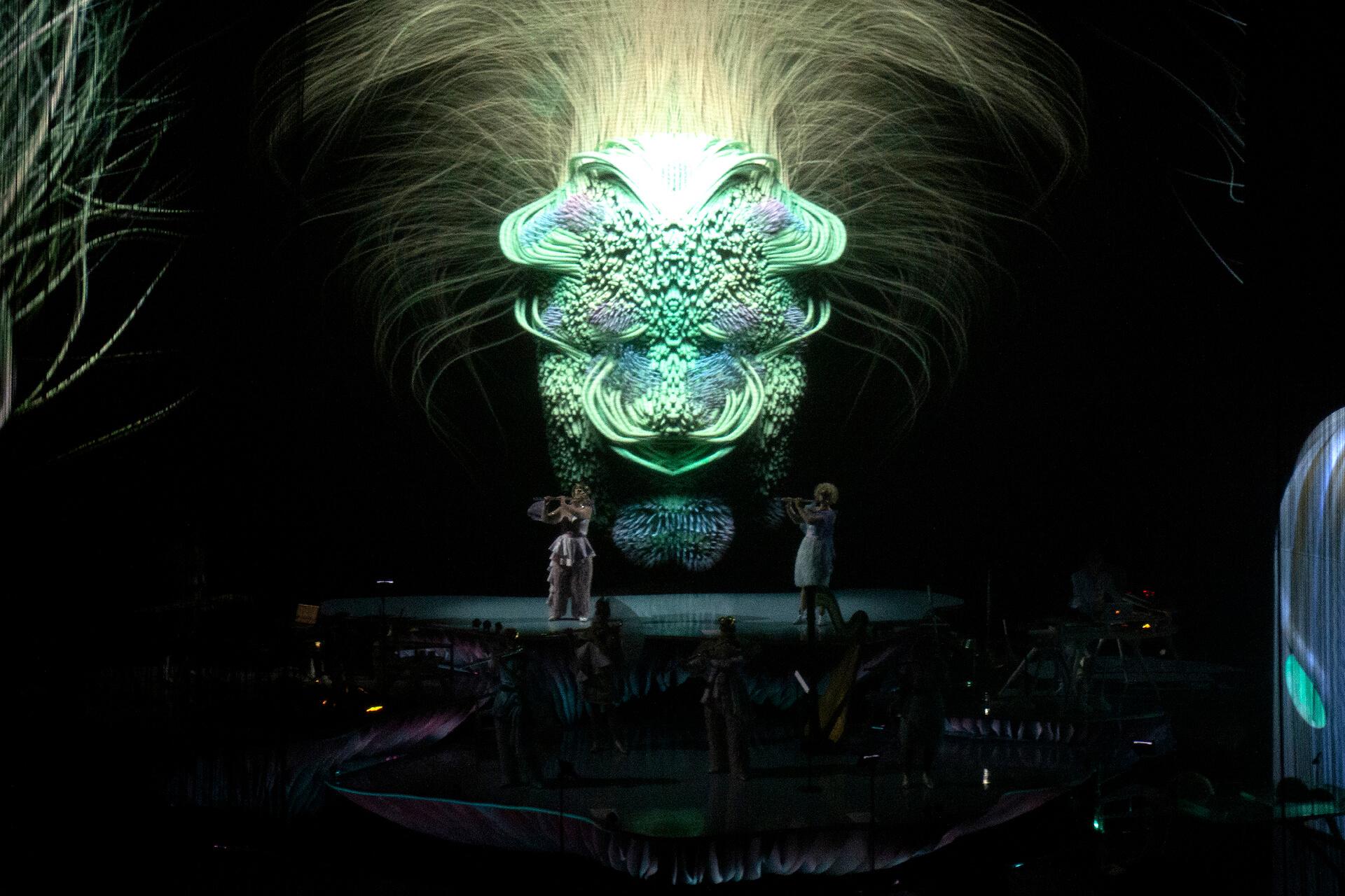 Björk's Cornucopia. Santiago Felipe, 2019. Courtesy One Little Indian/The Shed