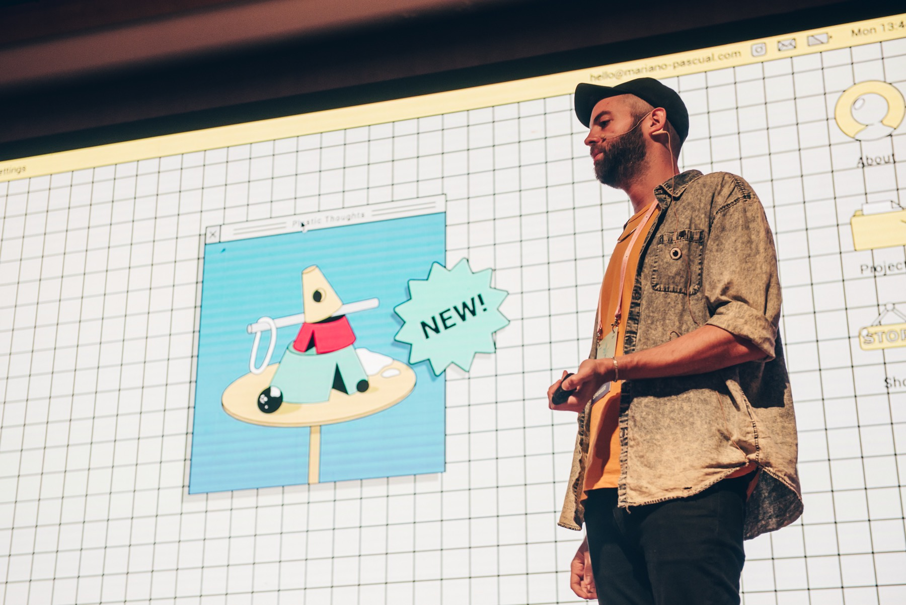 Mariano Pascual at OFFF TLV. Photo: Chris Milne