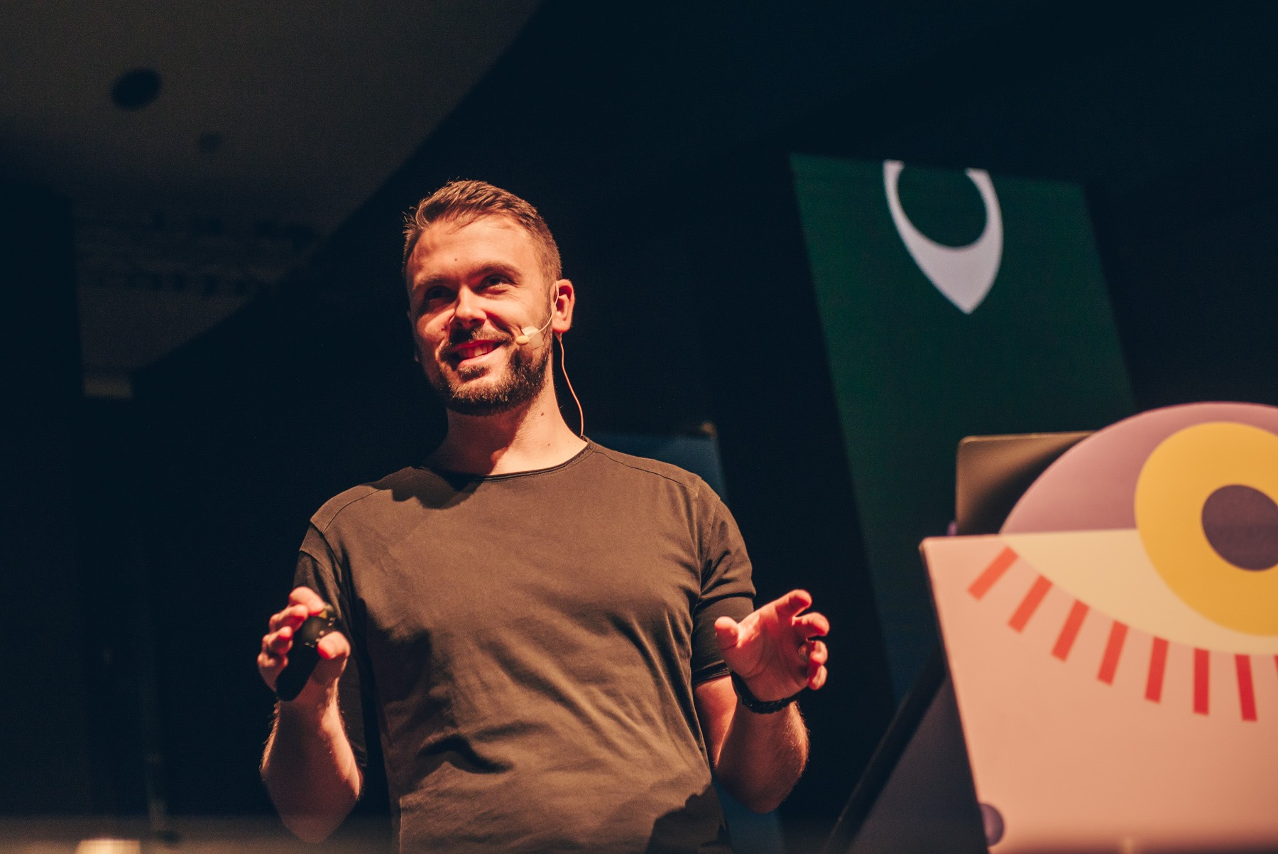 Marco Coppeto, Ueno at OFFF TLV. Photo: Chris Milne