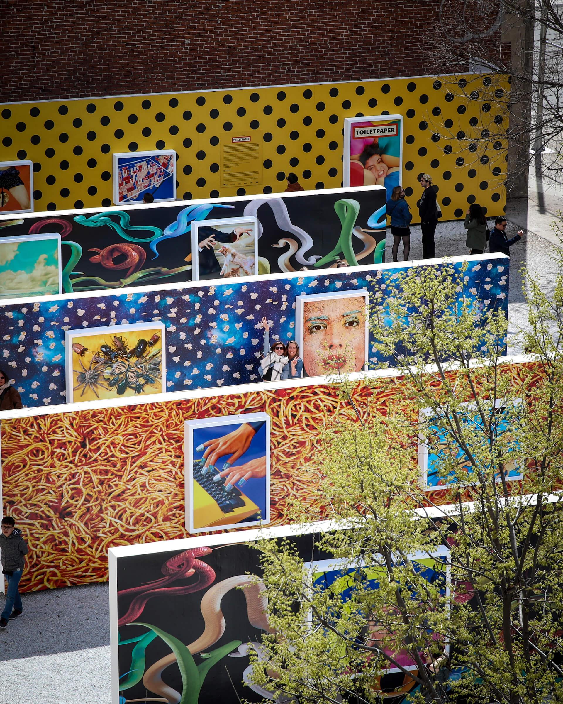 Toiletpaper at Galerie Blanc, Chromatic Festival. Photo: JF Savaria