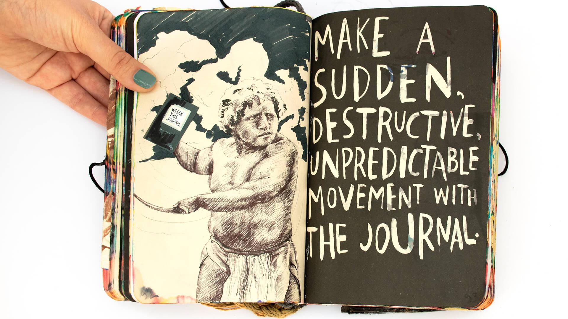 מתוך Wreck This Journal של איריס גיטיק