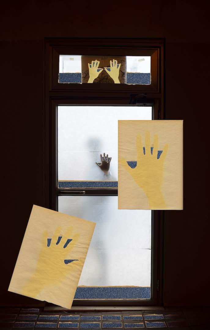 אלי פטל, ידיים לילה, הזרקת דיו, 2020, מובי: מוזיאון בת ים