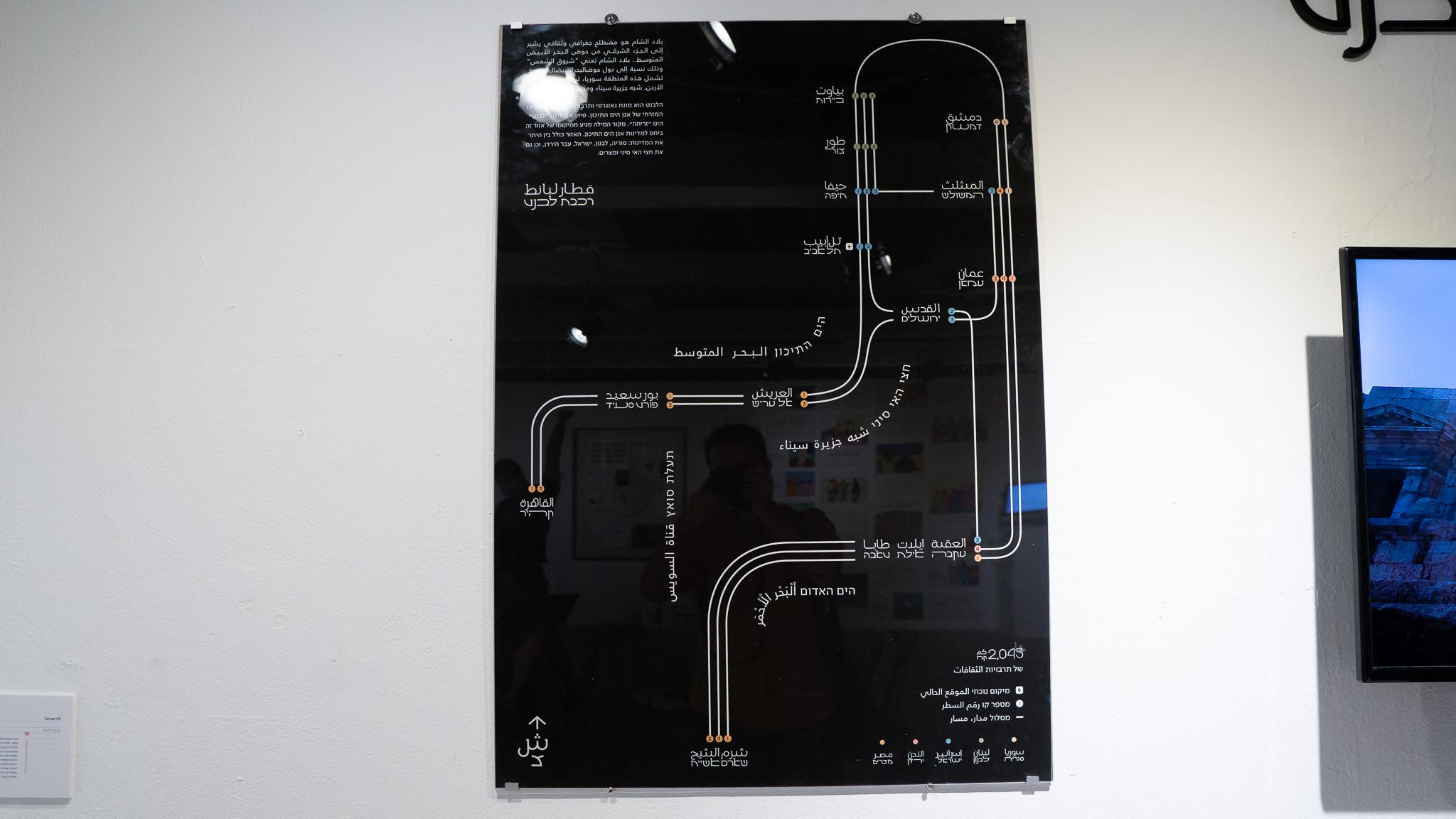 רכבת לבנט - אוראל לוי, מכללת שנקר. צילום: טל סולומון ורדי