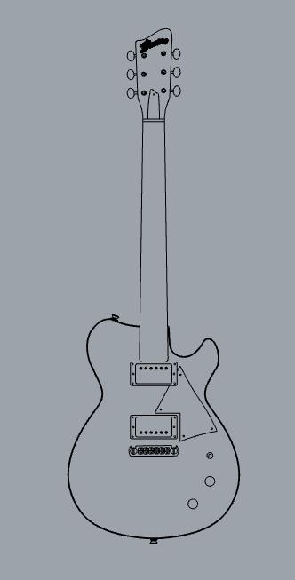 הדגם החדש שבתכנון - Amarok. עיצוב: Bunting Guitars
