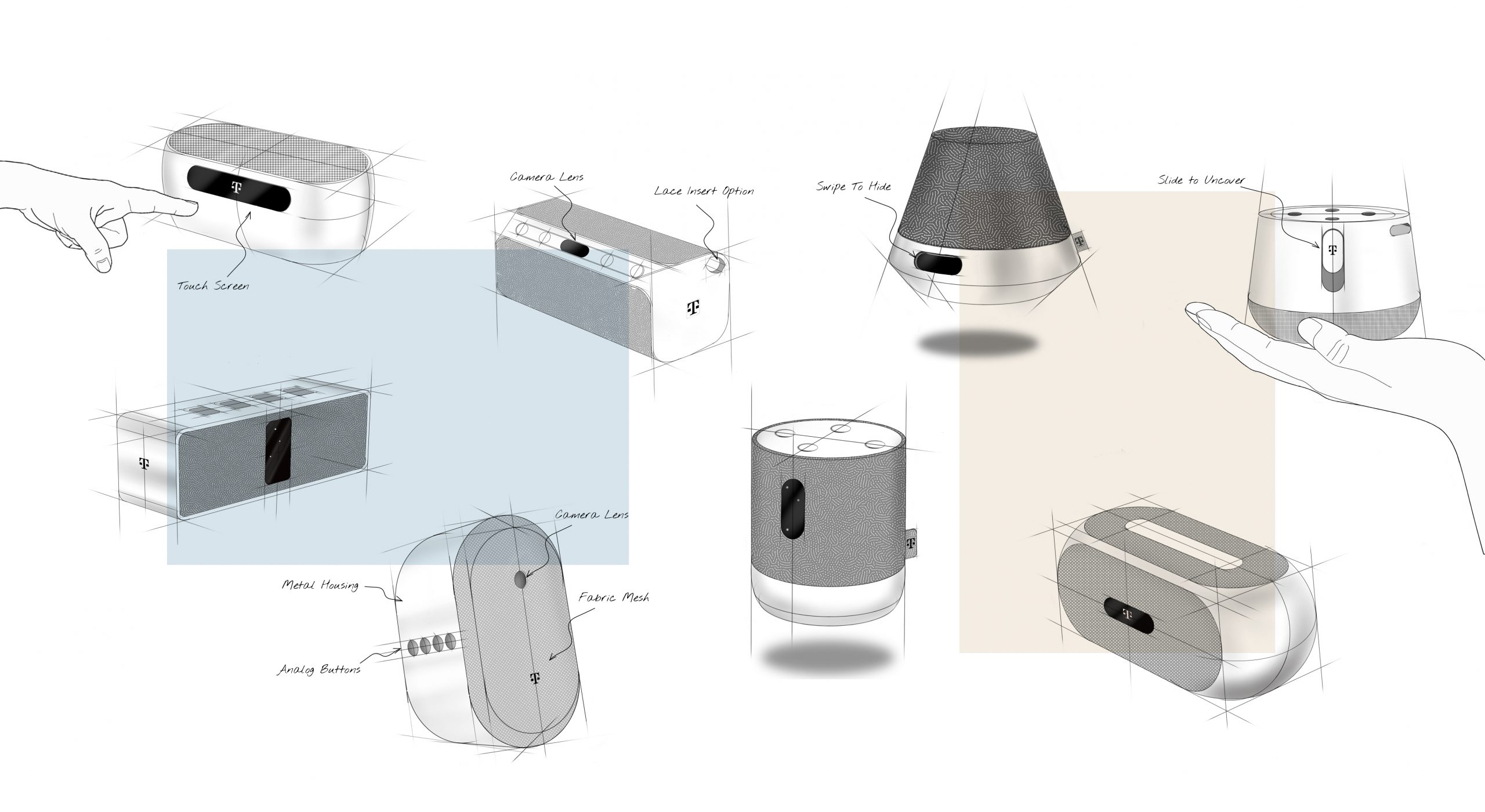 MIA Portable Smart Speaker Sketches
