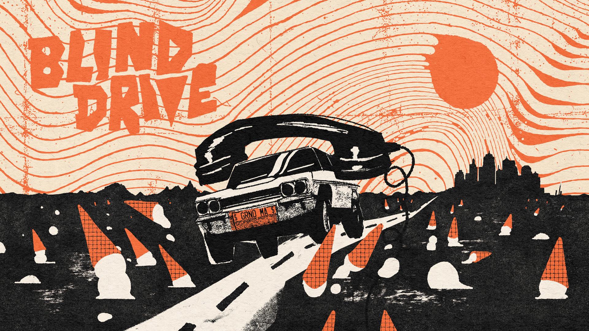 הפוסטר של Blind Drive. עיצוב: YONIL