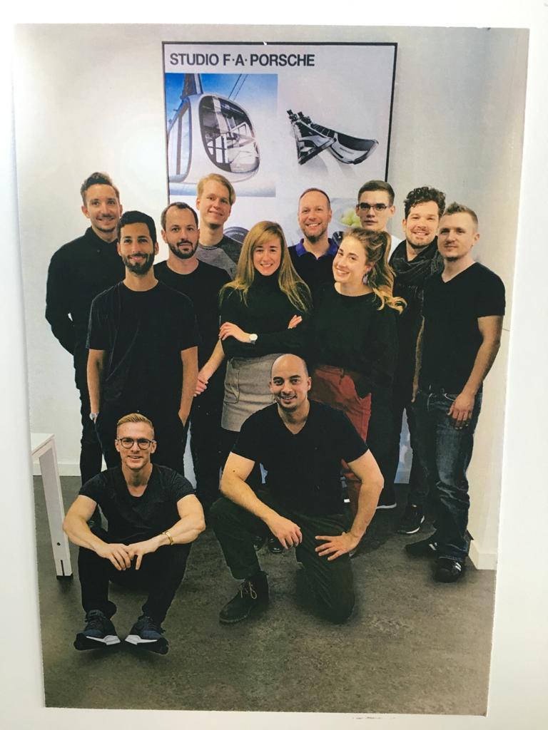 צוות העיצוב של פורשה, ברלין. משמאל - רז עומר. צילום: Studio F. A. Porsche, Berlin